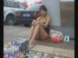 Sexy Japanese Street Vendor