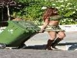 Traci Bingham - Braless & Nipply Taking Out The Trash