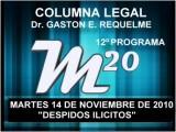 12&#186 Prog. Tema: Despidos Con Fraude A La Ley - 14 12 2010 - Cablevision