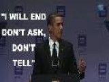 Obama: I Will End Don&apos T Ask, Don&apos T Tell