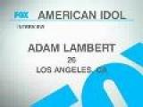 Adam Lambert Top 36