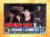 ADAM LAMBERT & MALE FRIEND DINE AT NOBU West Hollywood