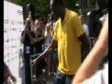 Berlin Gives Usain Bolt Original Piece Of Berlin Wall