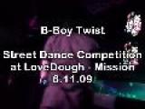 B-Boy Twist Breakdancing At LoveDough Street Dance Battle