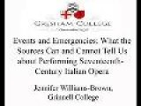 Calisto A Le Stelle: Cavalli And The Staging Of Venetian Opera - Part 1 - Ellen Rosand, Beth Glixon, Jennifer Williams-Brown - Gresham College Lectures