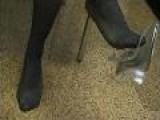 Jessica&apos S Pantyhose Shoeplay