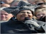 NATEPERKINS.TV: Swarovski-crystal Inaugural Hat That Aretha Franklin Wore For Her Inauguration Performance Has Run Out Of... The Milliner Who Designed The Now-famous Bow-tied Hat