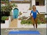 Sexy Denise Austin Blue One Piece Yoga