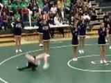 High School Cheerleader Backflip Faceplant