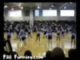 Cheerleader Faceplant Fail