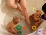 Haylee & Rilee Bath Time