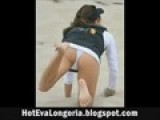 Hot Eva Longoria Playing Beach