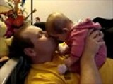 Paige Kissing Daddy!