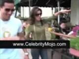 Mario Lopez And Eva Longoria Eat Lunch