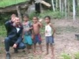 Native Indian Village In Amazon