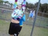 In P.e , Heather Falls Off A Pole