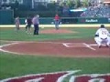 Jarvis&#39 First Pitch At The Indian&#39 S