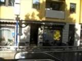 Gummi Bear On Bus Window In
