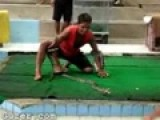 Man Catches Cobra Snake