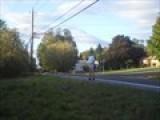 Matt Running Down The Road