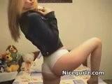 Sexy Girl Next Door Nikki Flirting On Webcam In Jean Jacket