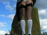 Windy Stockings Micro Mini Skirt