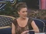 Alyssa Milano At Jay Leno's Show
