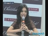 Amrita Rao Launches Titan's 'Raga Chocolat'
