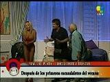 Maria Eugenia Rito Con Un Body Rojo En El Teatro