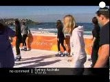 Ice-skating By The Beach In Australia - No Comment