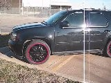Blacked Out Tahoe - Giovanna Rims, Red Lips, Lowered