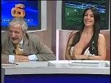 Marika Fruscio Gros Seins à La Télé Italienne Pour Du Foot