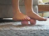 Naked Aerobic Foot Massage: Do It While You View It