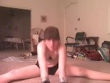 19y Teen Stretching To Flo Rida Right Round