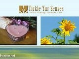 Tickle Yur Senses - Outdoor Solar Wind Chimes Scented Candle