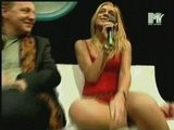 Fanny Oops Downblouse Tit On MTV Sexy Legs Upskirt
