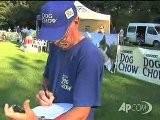 Ungheria, I Cani Si Sfidano Al Gioco Del Frisbee. Campionato Nazionale Di Acrobazie Disc Dogging