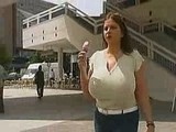 Nadine Jansen Having Ice Cream