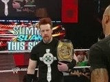 Raw Du 09.08.2010: Le Champion De La WWE Sheamus Confronte Son Adversaire De SummerSlam, Randy Orton