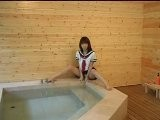 Japanese Girl AYAKA In Wet School Uniform