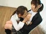 Japanese Lesbian Sucking And Pumped Big Tits