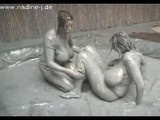 Eden Mor & Nadine Jansen Mud Fight