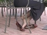 High Heels & Stockings At Starbucks Shoeplay