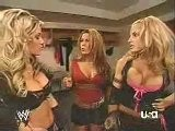 WWE 2006 Ashley, Trish Stratus, And Mickie James Backstage