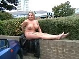 Busty UK Milf Naked In Public