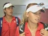 Ana Ivanovic & Caroline Wozniacki Roland Garros