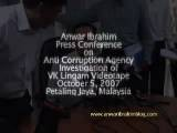 Anwar Ibrahim Press Conference - ACA Probe In VK Lingam Video Bahasa