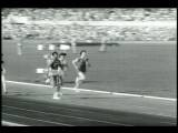 B W 1960 PAN Women Running 100M Dash Wilma Rudolph In Front At