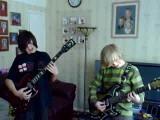Jack And Georgie Holding Led Zeppelin