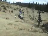 Kid Driving Up Funny Rocks At Naches
